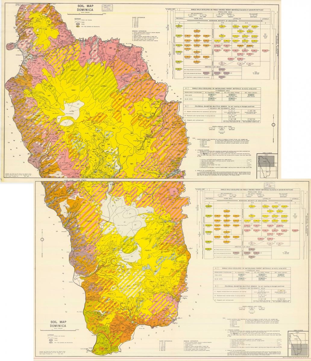 Soil Maps CHARIM - Physical map of dominica