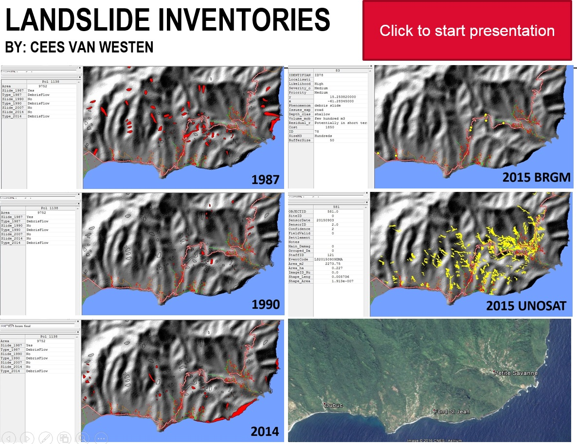 Click The Image To Start A Presentation On Landslide Inventory Mapping