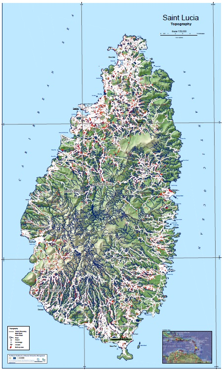 Information About CHARIM - Saint lucia map